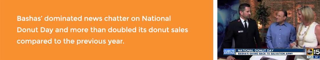 Bashas Donut Day PR Agency